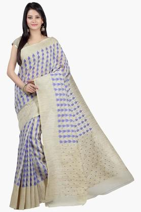 Womens Printed Chanderi Saree